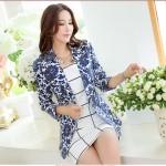 Xinh xinh diện áo vest họa tiết hoa đa sắc màu