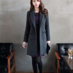 Tổng hợp những mẫu áo khoác dạ nữ cổ vest đẹp 2017