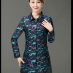 Kiểu áo khoác vest họa tiết sang trọng cho quý cô u40,u50 mùa thu đông