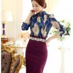 5 mẫu Chân váy bút chì Hàn Quốc làm siêu lòng bạn nữ