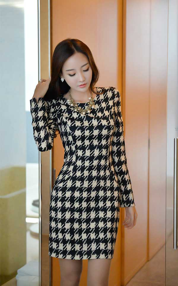 Váy Liền Công Sở Nem Vay Lien Than Cong so Han Quoc