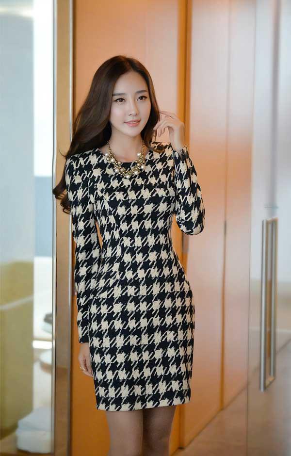 Váy Liền Công Sở Hàn Quốc Vay Lien Than Cong so Han Quoc