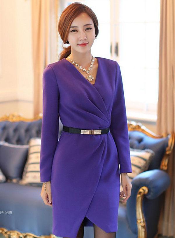 Váy Liền Công Sở Hàn Quốc Vay-lien-than-cong-so-han-quoc