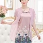 Đầm voan hoa dáng đẹp mới nhất cho phụ nữ trung niên
